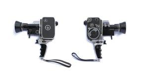 Εκλεκτής ποιότητας κάμερα κινηματογράφων ταινιών 8mm από τα αριστερά προς τα δεξιά Στοκ εικόνες με δικαίωμα ελεύθερης χρήσης
