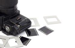 εκλεκτής ποιότητας κάμερα 135 ταινιών Στοκ Εικόνες