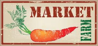Εκλεκτής ποιότητας κάρτα για την αγροτική αγορά Στοκ Εικόνες