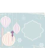 Εκλεκτής ποιότητας κάρτα μπιχλιμπιδιών Χριστουγέννων Στοκ φωτογραφία με δικαίωμα ελεύθερης χρήσης