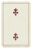 Εκλεκτής ποιότητας κάρτα παιχνιδιού με το σταυρό δύο Στοκ Εικόνες
