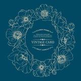 Εκλεκτής ποιότητας κάρτα παπαρουνών Στοκ φωτογραφία με δικαίωμα ελεύθερης χρήσης