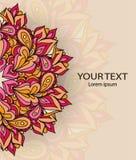 Εκλεκτής ποιότητας κάρτα πρόσκλησης με τη διακόσμηση δαντελλών, σχέδιο πλαισίων προτύπων Στοκ Εικόνες
