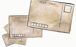 Εκλεκτής ποιότητας κάρτες Watercolor Στοκ φωτογραφία με δικαίωμα ελεύθερης χρήσης