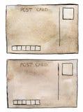 Εκλεκτής ποιότητας κάρτες Watercolor Στοκ Εικόνες