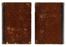 Εκλεκτής ποιότητας κάλυψη βιβλίων - πίσω και μπροστινή πλευρά Στοκ Εικόνες