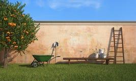 Εργασία στον κήπο διανυσματική απεικόνιση