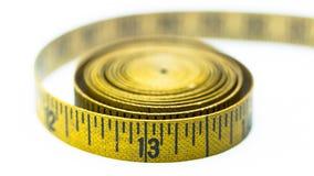 Εκλεκτής ποιότητας κίτρινη μετρώντας ταινία Στοκ Εικόνα