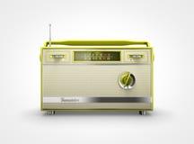 Εκλεκτής ποιότητας κίτρινο ραδιόφωνο κατά την μπροστινή άποψη Στοκ Εικόνα