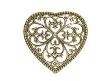 Εκλεκτής ποιότητας καρδιά μετάλλων που απομονώνεται Στοκ φωτογραφία με δικαίωμα ελεύθερης χρήσης