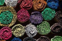 Εκλεκτής ποιότητας κατασκευασμένες χρωματισμένες σπείρες Στοκ Φωτογραφία