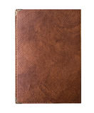 Εκλεκτής ποιότητας καφετί σημειωματάριο γραψίματος δέρματος δερμάτων στοκ φωτογραφία με δικαίωμα ελεύθερης χρήσης
