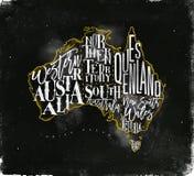 Εκλεκτής ποιότητας κιμωλία της Αυστραλίας χαρτών κίτρινη Στοκ Φωτογραφίες