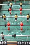 Εκλεκτής ποιότητας κινηματογράφηση σε πρώτο πλάνο επιτραπέζιου ποδοσφαίρου, foosball Στοκ Εικόνες