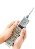 Εκλεκτής ποιότητας κινητό τηλέφωνο εκμετάλλευσης χεριών ατόμων Στοκ Εικόνες