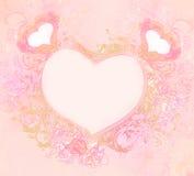 Εκλεκτής ποιότητας κομψό πλαίσιο με τις καρδιές Στοκ Εικόνες