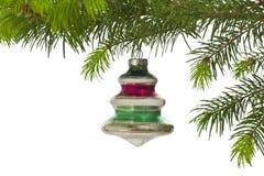 Εκλεκτής ποιότητας κρεμώντας διακόσμηση χριστουγεννιάτικων δέντρων Στοκ φωτογραφία με δικαίωμα ελεύθερης χρήσης