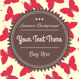 Εκλεκτής ποιότητας κόκκινη απεικόνιση πεταλούδων Στοκ φωτογραφίες με δικαίωμα ελεύθερης χρήσης