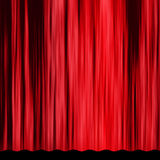 Εκλεκτής ποιότητας κόκκινη κουρτίνα Στοκ Φωτογραφίες