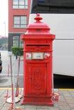 Εκλεκτής ποιότητας κόκκινο μετα κιβώτιο Στοκ φωτογραφία με δικαίωμα ελεύθερης χρήσης