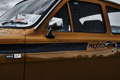 Εκλεκτής ποιότητας κλασικό γεγονός αυτοκινήτων Ford Escort Στοκ Εικόνες