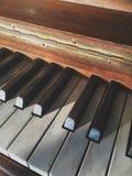 Εκλεκτής ποιότητας κλειδιά πιάνων Στοκ φωτογραφία με δικαίωμα ελεύθερης χρήσης