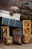 Εκλεκτής ποιότητας αποσκευές Στοκ εικόνες με δικαίωμα ελεύθερης χρήσης