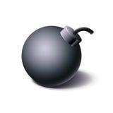 Εκλεκτής ποιότητας μαύρο εικονίδιο βομβών, ύφος κινούμενων σχεδίων Στοκ εικόνα με δικαίωμα ελεύθερης χρήσης