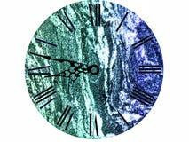 εκλεκτής ποιότητας μαύρο κείμενο ρολογιών πολυτέλειας και ζωηρόχρωμο μάρμαρο Στοκ Φωτογραφίες