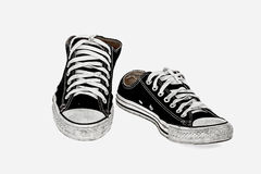 Εκλεκτής ποιότητας μαύρο παπούτσι Στοκ Εικόνα