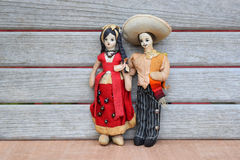 Εκλεκτής ποιότητας μεξικάνικες κούκλες υφασμάτων ζεύγους Στοκ Φωτογραφία