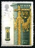 Εκλεκτής ποιότητας μετα βρετανικό γραμματόσημο κιβωτίων Στοκ εικόνα με δικαίωμα ελεύθερης χρήσης