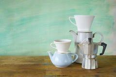 Εκλεκτής ποιότητας μηχανές καφέ στοκ εικόνα