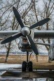 Εκλεκτής ποιότητας μηχανή αεροπλάνων αεροσκαφών προωστήρων Grunge Στοκ φωτογραφίες με δικαίωμα ελεύθερης χρήσης