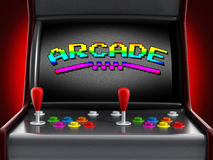 Εκλεκτής ποιότητας μηχανή arcade Στοκ Φωτογραφίες