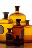 Εκλεκτής ποιότητας μπουκάλια φαρμακείων στοκ εικόνες