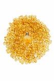 Εκλεκτής ποιότητας μπουκάλι και κίτρινες ηλέκτρινες πέτρες Στοκ φωτογραφία με δικαίωμα ελεύθερης χρήσης