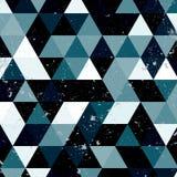Εκλεκτής ποιότητας μπλε και άσπρο σχέδιο τριγώνων Γεωμετρικό αναδρομικό υπόβαθρο hipster με τη θέση για το κείμενό σας αναδρομικό Στοκ φωτογραφίες με δικαίωμα ελεύθερης χρήσης