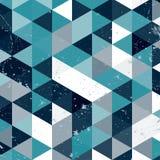 Εκλεκτής ποιότητας μπλε και άσπρο σχέδιο τριγώνων Γεωμετρικό αναδρομικό υπόβαθρο hipster με τη θέση για το κείμενό σας αναδρομικό Στοκ εικόνες με δικαίωμα ελεύθερης χρήσης