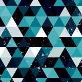 Εκλεκτής ποιότητας μπλε και άσπρο σχέδιο τριγώνων Γεωμετρικό αναδρομικό υπόβαθρο hipster με τη θέση για το κείμενό σας αναδρομικό Στοκ φωτογραφία με δικαίωμα ελεύθερης χρήσης