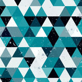 Εκλεκτής ποιότητας μπλε και άσπρο σχέδιο τριγώνων Γεωμετρικό αναδρομικό υπόβαθρο hipster με τη θέση για το κείμενό σας αναδρομικό Στοκ Εικόνες