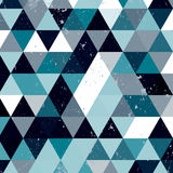 Εκλεκτής ποιότητας μπλε και άσπρο σχέδιο τριγώνων Γεωμετρικό αναδρομικό υπόβαθρο hipster με τη θέση για το κείμενό σας αναδρομικό Στοκ Φωτογραφία