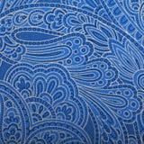 Εκλεκτής ποιότητας μπλε ταπετσαρία του Paisley Στοκ Φωτογραφίες