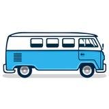 Εκλεκτής ποιότητας μπλε φορτηγό Στοκ Φωτογραφίες