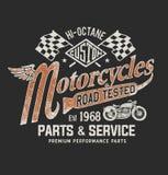 Εκλεκτής ποιότητας μπλούζα μοτοσικλετών γραφική απεικόνιση αποθεμάτων