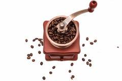 Εκλεκτής ποιότητας μύλος καφέ που απομονώνεται στο άσπρο υπόβαθρο στοκ εικόνα με δικαίωμα ελεύθερης χρήσης