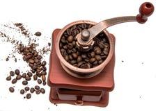 Εκλεκτής ποιότητας μύλος καφέ που απομονώνεται στο άσπρο υπόβαθρο στοκ φωτογραφία με δικαίωμα ελεύθερης χρήσης