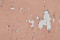 Εκλεκτής ποιότητας νιφάδες του παλαιού ρόδινου χρώματος πέρα από τον γκρίζο συμπαγή τοίχο Στοκ εικόνες με δικαίωμα ελεύθερης χρήσης