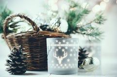 Εκλεκτής ποιότητας ντεκόρ Χριστουγέννων στοκ εικόνες