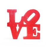 Εκλεκτής ποιότητας ξύλινη αγάπη επιστολών που απομονώνεται Στοκ εικόνες με δικαίωμα ελεύθερης χρήσης